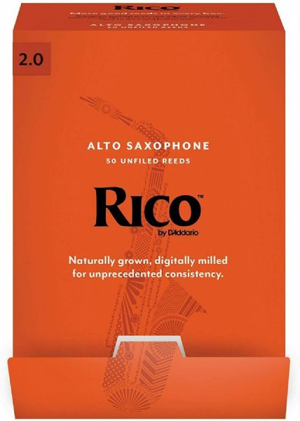 Rico 2.0 Strength Reeds for Alto Sax (Pack of 50) - RJA0120-B50